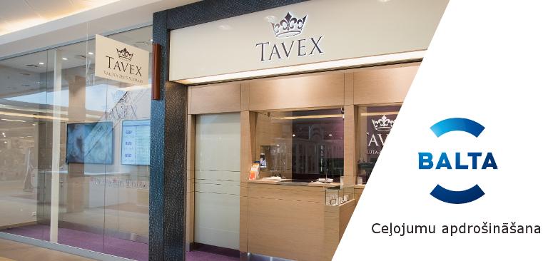 ceļojumu apdrošināšana Tavex filiālēs